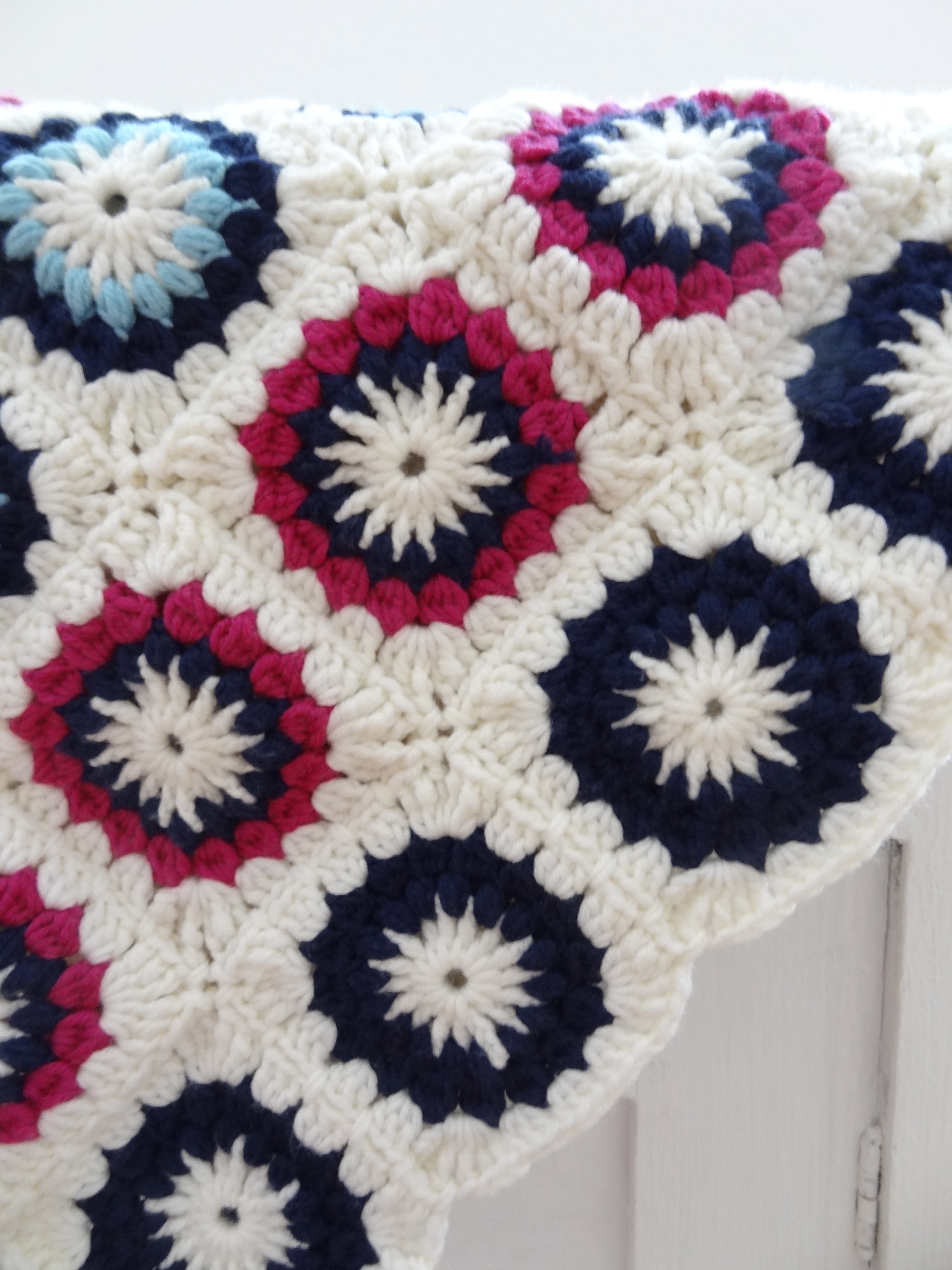 Do It Yourself Granny Square Babydecke Sweet Times