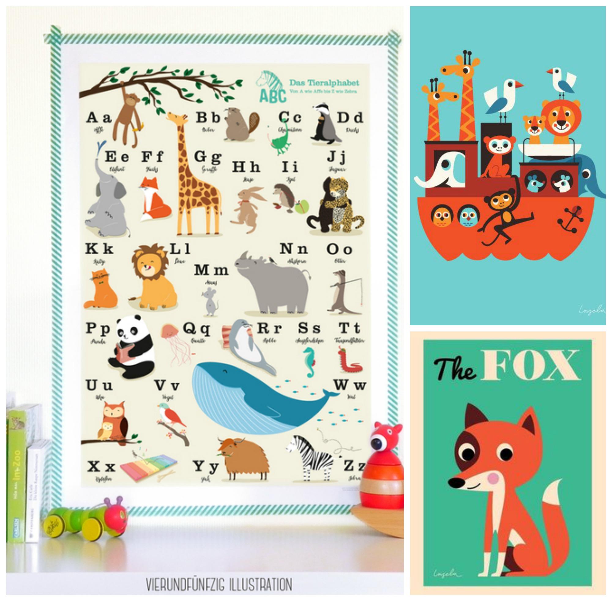 Poster fürs Kinderzimmer – sweet times